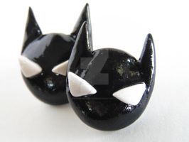 Batman Polymer Clay Hypoallergenic Earrings by VerUniqueCreations