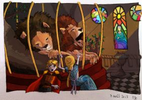 Dare you touch the lions of Casterly Rock ? by Baleineau