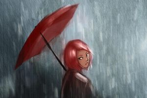 sakura in the storm by doven