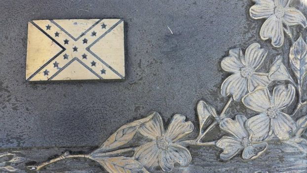 Cemetery Grave Marker Confederate Battle Flag by OddGarfield