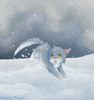 snowy kitty for Monica by UkimeOkami760