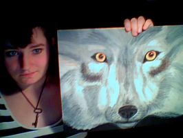 Oil Pastel Wolf by ScribbleChaos