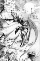 Batman on the Hunt by JMan-3H