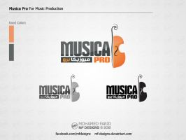 Musica Pro - for Music Production / logo by mf-Designs