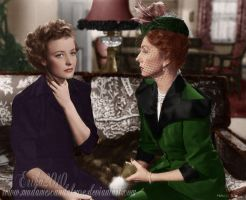 Agnes with Laraine Day by madamescandaleuse