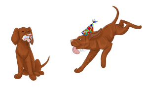 Vizsla Puppies - Commission by ThisDyingDog
