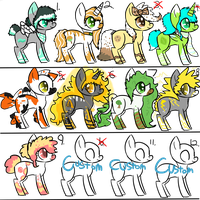 Big Batch of Pony Adopts! -OPEN- by FUNKIferret