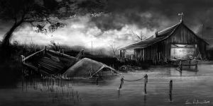 Boathouse speedpaint by Ben-Andrews
