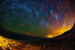 North Shore Oahu Star Trails by shod