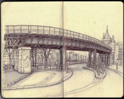 Sketchbook - Oberbaumbruecke by keiross