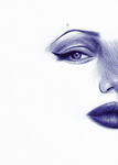 Angelina Jolie ball point by X-Blackout