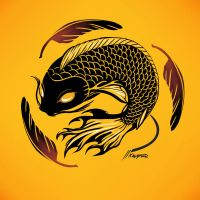 Yellow Koi by nedashi