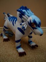 Garurumon Plush by Eightohsixtythird