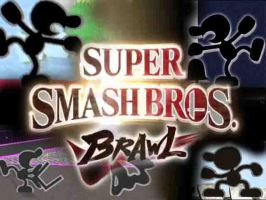 Mr. Game and Watch SSBB by firestorm458