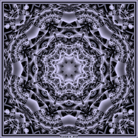 Barnsley Black And White Mandala by fraxialmadness3
