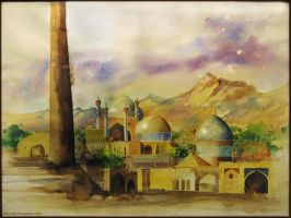 Yazd watercolor by sara-nmt