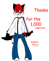 Thanks for the 1,000 pageviews by Redfoxsoul