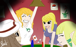 Poker night with the Nintendo girls! by Sombrerin