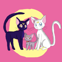 Luna, Artemis and Diana by KendraTheShinyEevee
