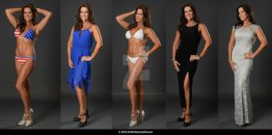 Stock:  Jennifer in dresses and swimsuits by ArtReferenceSource
