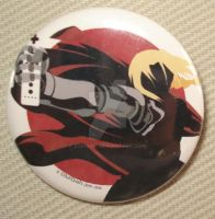 Edward Elric Button Badge by zomgah