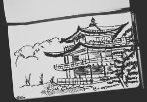 Japanese architecture by manupaivaellon