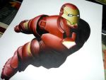 Iron-Man (airbrush) by gabcontreras