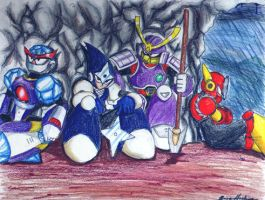 Robot Masters Chillin' by XCBDH