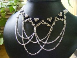 Silver and black princess necklace by BacktoEarthCreations