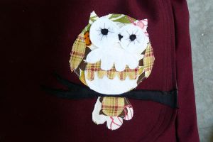 Owl Messenger Bag Up Close by someweirdcrab