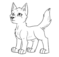 Wolf Pup Free Lineart by The-Crow-Faced-Wolf
