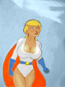 Power Girl - 'What Is That?' by svettzwo