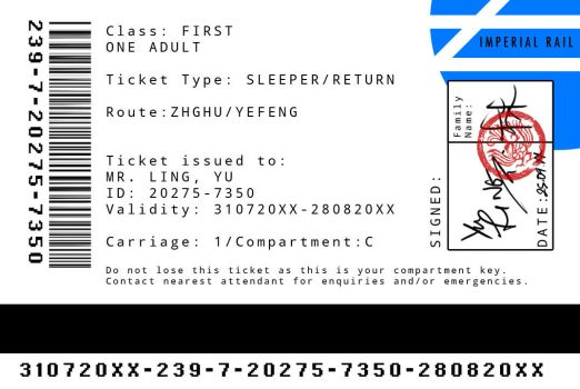 Yu's Train Ticket by JDWasabi