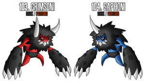 Fakemon: 103 - 104 by MTC-Studios