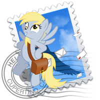 Mail Derpy Hooves Yosemite Ponified Icon by Falcotte