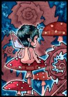 Infant Baby Fairy ACEO by candcfantasyart