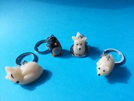 snow creature keyrings by NoMoreThanMe