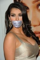 Kim Kardashian duct tape gagged by ikell