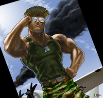 Street Fighter characters: Guile by EnriqueNL