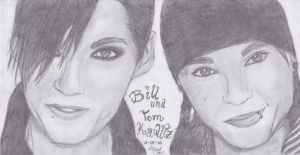Bill and Tomi Kaulitz Portrait by Stormy-Bear