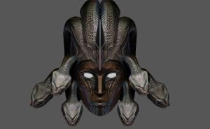 Medusa Armor Helmet For Skyrim by Zerofrust