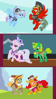 MLPFiM: Hearths Warming Eve - the Original Ponies by AjnosFTW