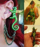Little Steampunk Dragon Earcuff by PunkTrunk