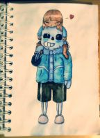 Sans and Frisk by Kana-The-Drifter