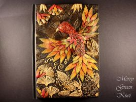 Phoenix polymer clay journal by MerryGreenKiwi