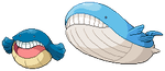 Wailmer and Wailord resprite by MyMarshlands