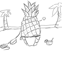 Pineapple pinup.fw by FairyFish101