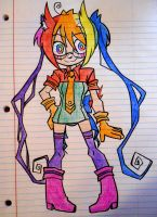 Color Girl Concept Sketch by Krooked-Glasses