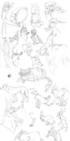 Sketch dump pt1 by Zaelithe