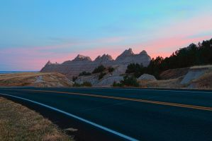 Passing through the Badlands by in-my-viewfinder